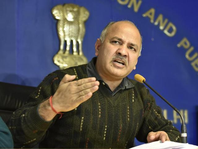 Delhi's deputy chief minister Manish Sisodia during a press conference over the issue of Delhi private school admissions and odd and even vehicles initiative at Delhi secretariat in New Delhi on Thursday.