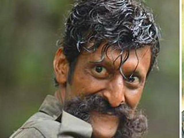 Sandeep Bharadwaj, who plays Veerappan, the dreaded Sandalwood smuggler in Ram Gopal Varma's film Killing Veerappan, shares an uncanny resemblance with the bandit.