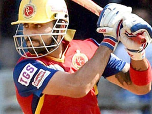 Royal Challengers Bangalore captain Virat Kohli in action during the Indian Premier League.
