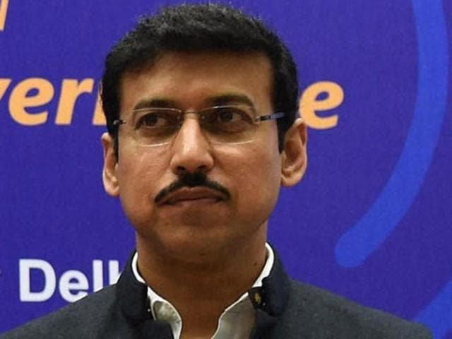 Union minister of state for Information and Broadcasting Rajyavardhan Singh Rathore.