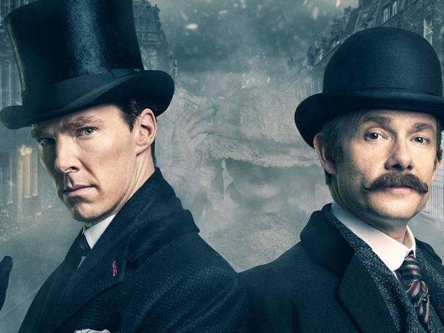 Benedict Cumberbatch and Martin Freeman travel all the way back to Victorian era for the latest Sherlock special.