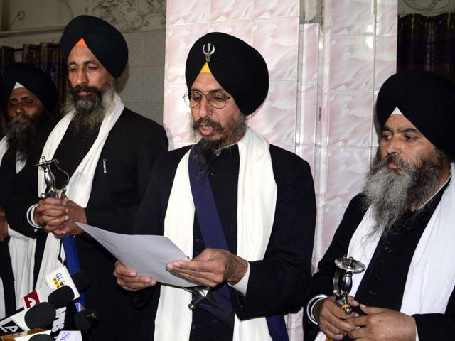 The Panj Pyaras passed the order as in October the jathedars had pardoned the Sirsa dera head in a blasphemy case.