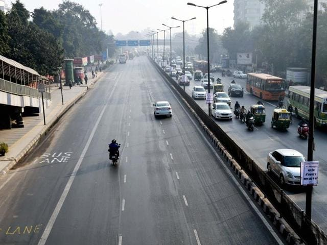 Relatively less traffic is seen at ITO as the Odd-Even scheme restricting movement of private cars, is operational in New Delhi on Saturday.