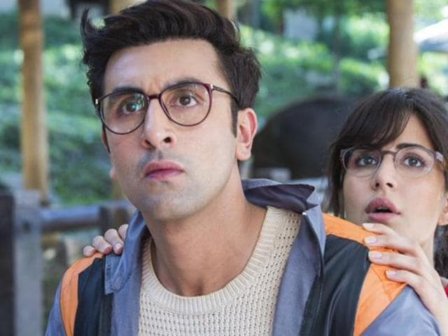 Katrina Kaif and Ranbir Kapoor in a leaked image from their upcoming film Jagga Jasoos.