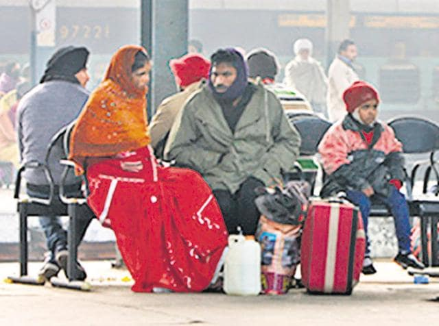 Several trains, running late on Saturday due to foggy weather, caused inconvenience to many passengers who had to wait for long hours at the railway station.