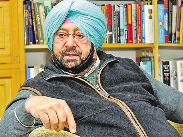 File photo Captain Amarinder Singh, Congress deputy leader in Lok Sabha and former Punjab chief minister.