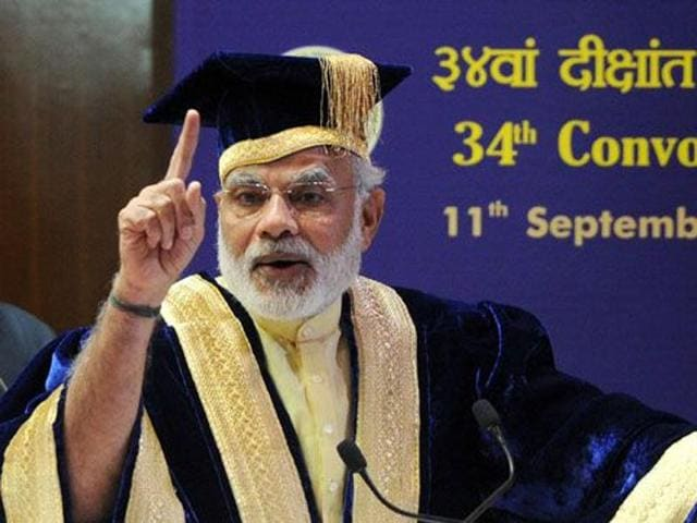 PM's office has pushed the plan to set up ten new private autonomous universities across the country.(HT File Photo)