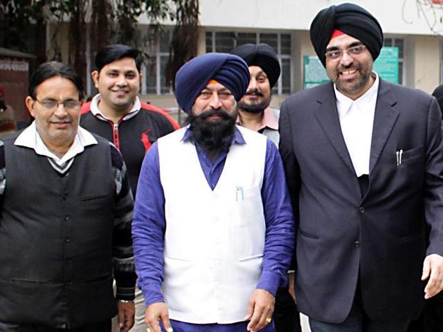 Senior deputy mayor Kamaljit Singh Bhatia comes out of a local court in Jalandhar on Monday.