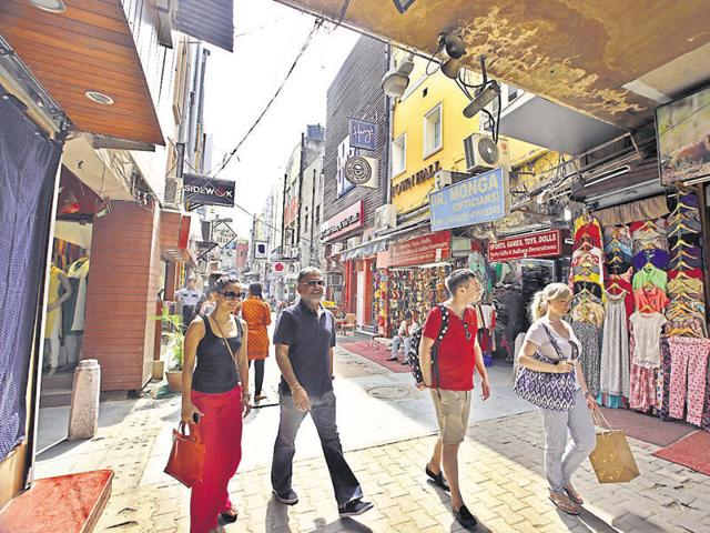A city landmark, the Khan Market in south Delhi, is one of the most expensive shopping spaces in the world.