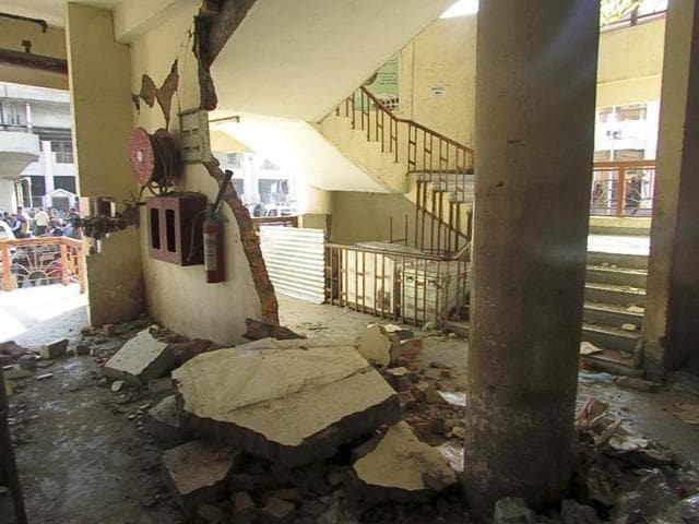 The 150-year-old Ima Keithel or Mothers' Market complex, which is run exclusively by women, was damaged in the quake.