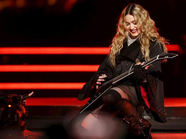 Singer Madonna performs during her concert at the AccorHotels Arena in Paris, France, December 9, 2015, on her Rebel Heart Tour.