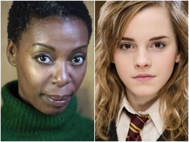 Hermiones old and new, Noma Dumezweni and Emma Watson.
