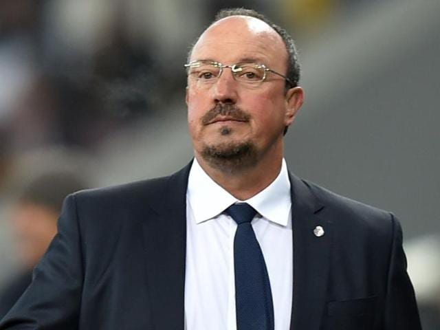 A file photo of Real Madrid's former coach Rafael Benitez during the Spanish league football match Real Madrid CF vs Real Sociedad de Futbol.