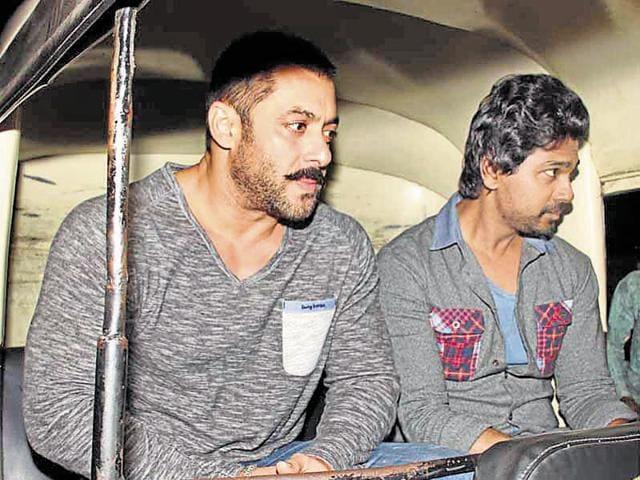 Salman Khan takes an auto ride like common people.