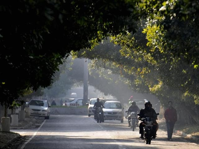 Chandigarh recorded a low of 9.8 degrees Celsius, which was five notches above the normal for this time of the season.