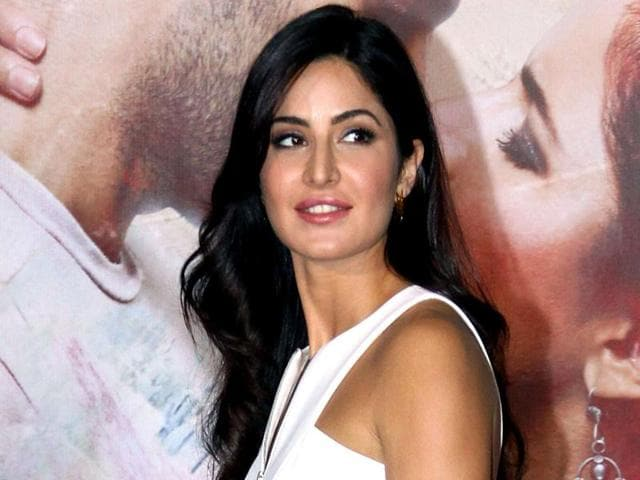 Indian Bollywood actress Katrina Kaif attends the trailer launch of her upcoming film Fitoor in Mumbai. The film also stars Aditya Roy Kapur and Tabu.