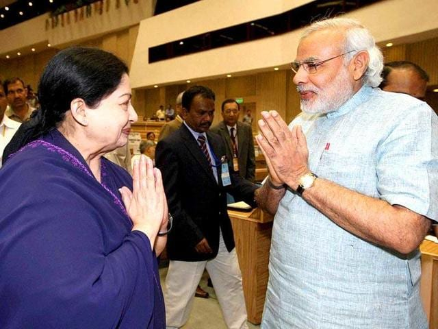 Tamil Nadu CM Jayalalithaa reached out to PM Modi seeking his intervention for the release of 104 fishermen and 66 boats from Sri Lanka.
