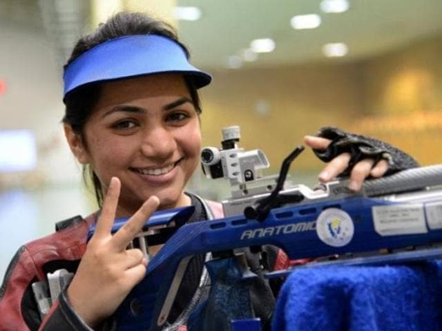 Apurvi Chandela won gold in the women's 10 metre air rifle event at the Swedish Cup Grand Prix.