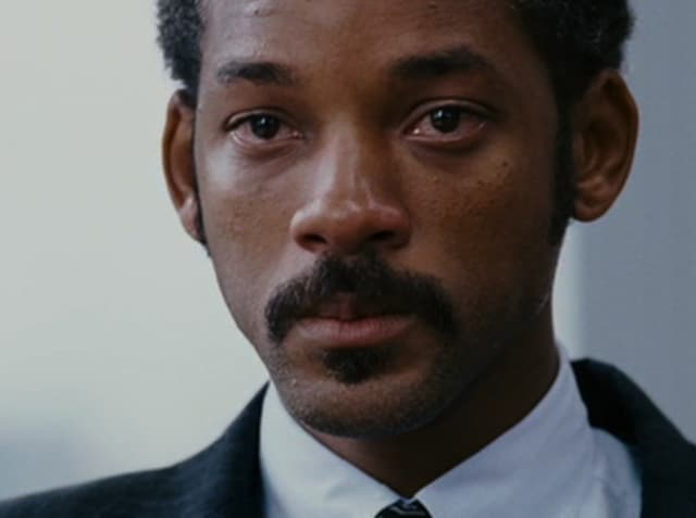 Will Smith in a still from The Pursuit of Happyness, weeping as he will when he watches Independence Day 2.