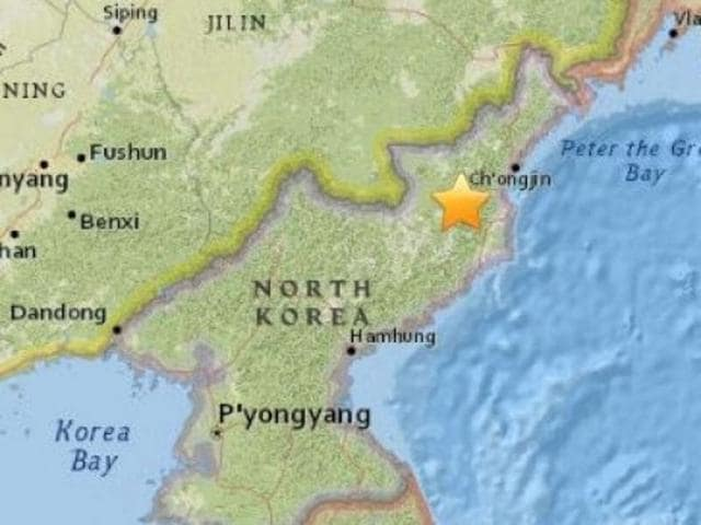 5.1-magnitude earthquake has been detected 19 kilometres from North Korea's Sungjibaegam nuclear test site at a depth of 10 km, according to the US Geological Survey.