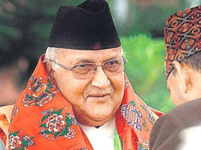 """Nepal's Prime Minister KP Sharma Oli may head to China ahead of India if the trade """"blockade"""" is not lifted.(AFP File Photo)"""