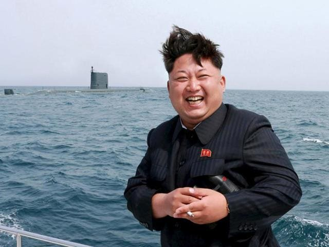 North Korean leader Kim Jong Un watches the test-fire of a strategic submarine underwater ballistic missile (not pictured), in this undated file photo released by North Korea's Korean Central News Agency (KCNA) in Pyongyang on May 9, 2015.