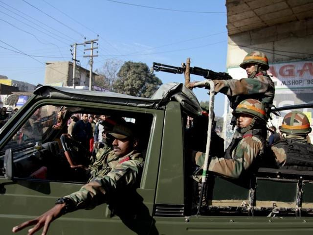 Devastated Pathankot,War,Security forces
