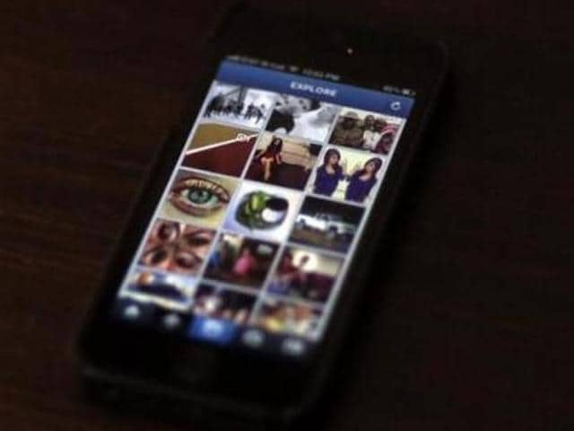 A most popular Instagram page is displayed on a mobile device screen in Pasadena, California.
