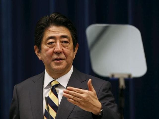 """""""The hydrogen bomb test is a significant threat to Japan's national security and is unacceptable,"""" Abe said"""