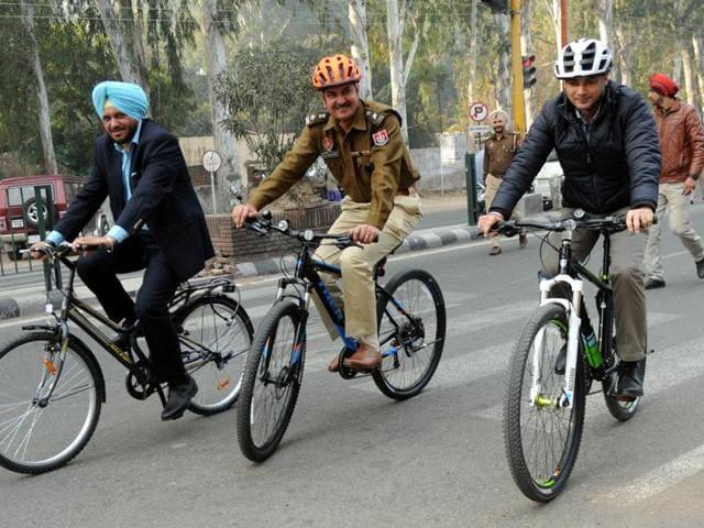 HS Madaan,Car-free Day,Patiala