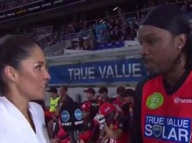 Gayle set to be banned from BBL over 'inappropriate