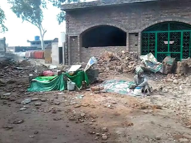 The 'mazar' (shrine) of Peer Baba Abdul Shah which was demolished by some Sikh activists on Thursday.