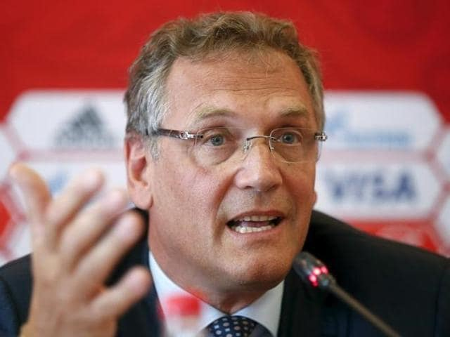 Former FIFA Secretary General Jerome Valcke attends a news conference after the meeting of the Ethics Committee at the Home of FIFA in Zurich.
