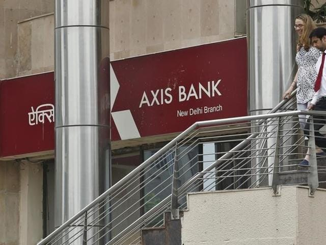 Axis Bank shares were down 3.6% in a Mumbai market amid a broader sell-off.