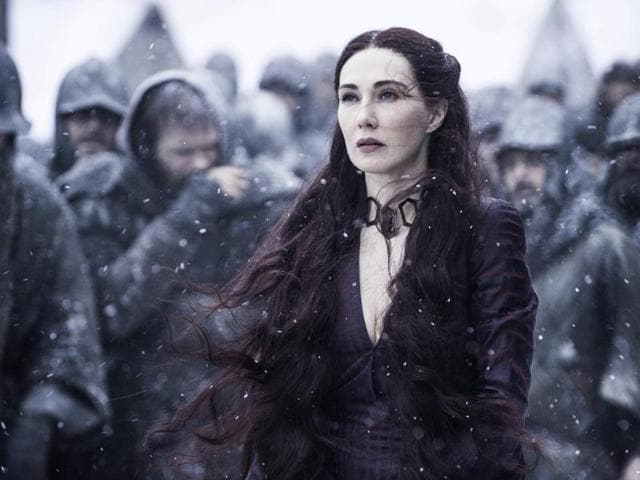 Carice Van Houten in a still from Game of Thrones. All is forgiven Melisandre if you bring back Snow to life.