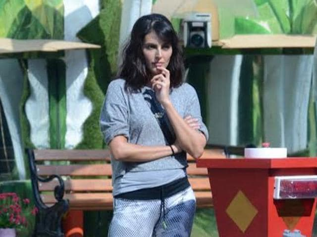Mandana before the Road to Finale task on Bigg Boss 9 began.