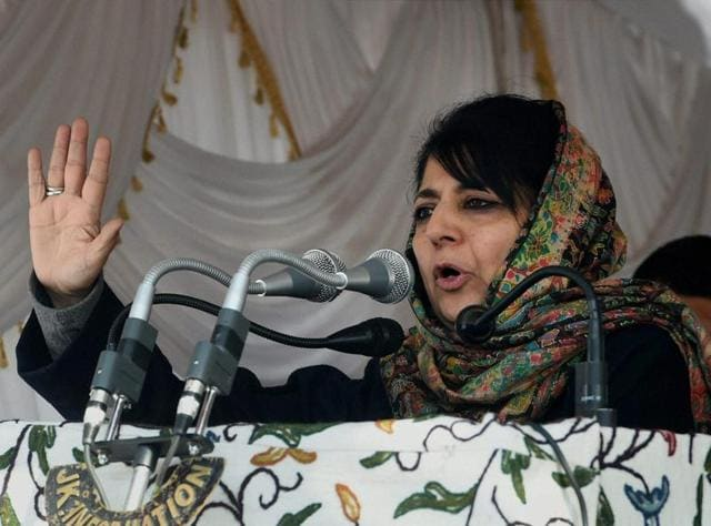 President, People's Democratic Party (PDP) Mehbooba Mufti arrives after hearing about the demise of her father and Jammu and Kashmir Chief Minister Mufti Mohammad Sayeed at AIIMS in New Delhi on Thursday.