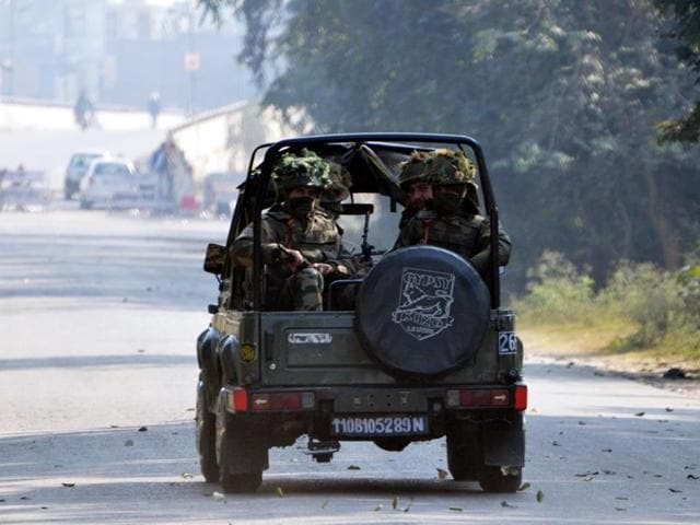 The security forces had arrived in armoured cars on Thursday afternoon, carrying rocket launchers and latest weapons to catch two 'militants' who appeared to have vanished into thin air.