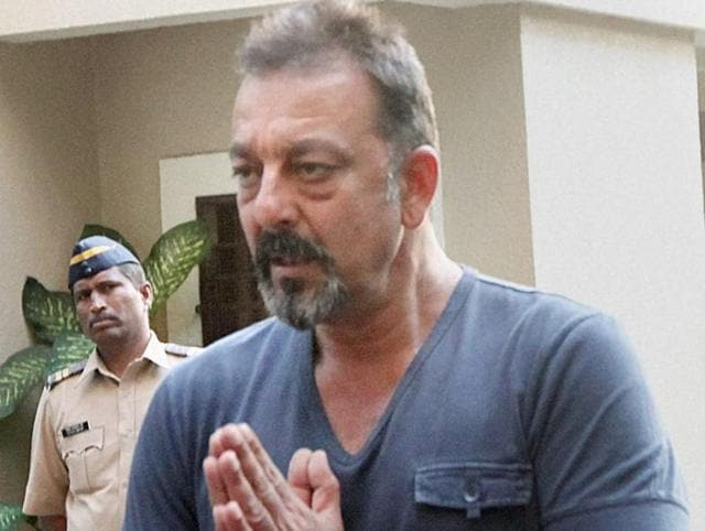 File photo of Bollywood actor Sanjay Dutt who will be released from Pune's Yerawada Jail on Feb 27, 2016. Dutt is currently lodged in the Jail in connection with the 1993 Mumbai serial blasts case.