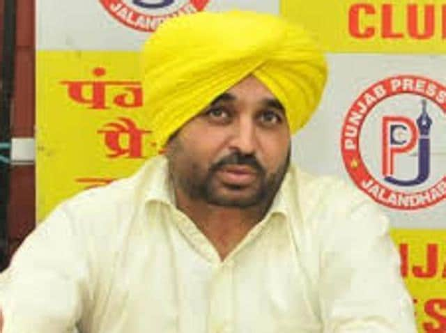 Aam Aadmi Party (AAP) MP Bhagwant Mann.