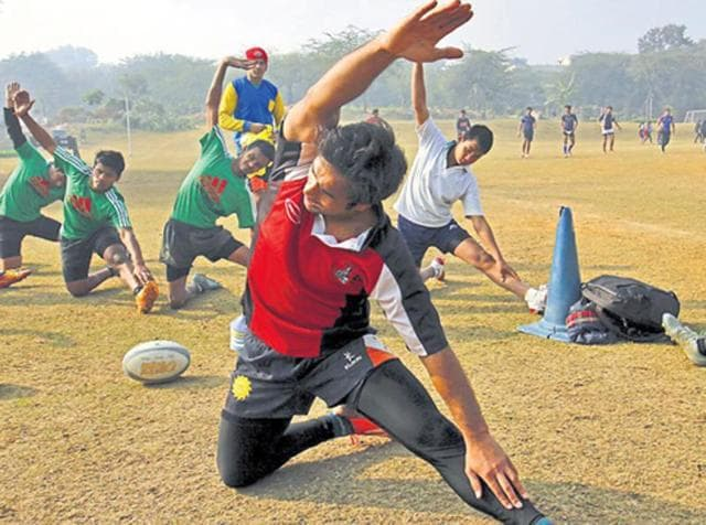 Maidan Garhi  is home to several national level rugby players including the captain of current Indian rugby team, Gautam Dagar, and Deepak Dagar .