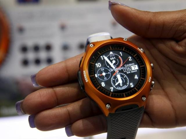 Casio's Smart Outdoor watch, WSD-F10 debuted at CES 2016.