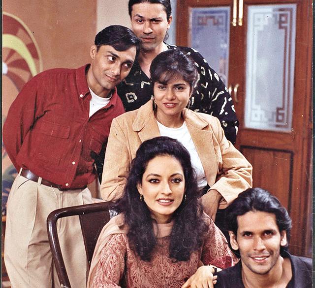 Rahul Bose, Rajeev Mulchandani, Shiuli Subaya and Neesha Singh with Milind Soman in A Mouthful of Sky. (HT Photo).