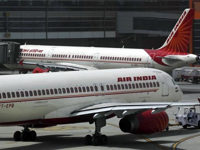 In this file photo, Air India planes are parked on the tarmac at the Terminal 3 of Indira Gandhi International Airport in New Delhi, India.