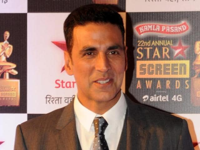 Indian Bollywood actor Akshay Kumar poses for a photograph during the Star Screen Awards 2016 ceremony in Mumbai.