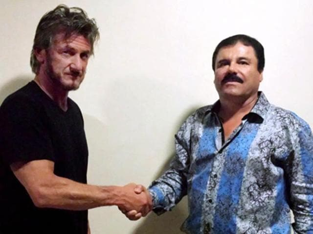"""Mexican drug lord Joaquin """"El Chapo"""" Guzman's secret interview with US actor Sean Penn reportedly helped authorities locate his whereabouts"""