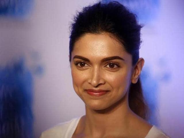 Bollywood actor Deepika Padukone during a promotional event in Mumbai.(AP)
