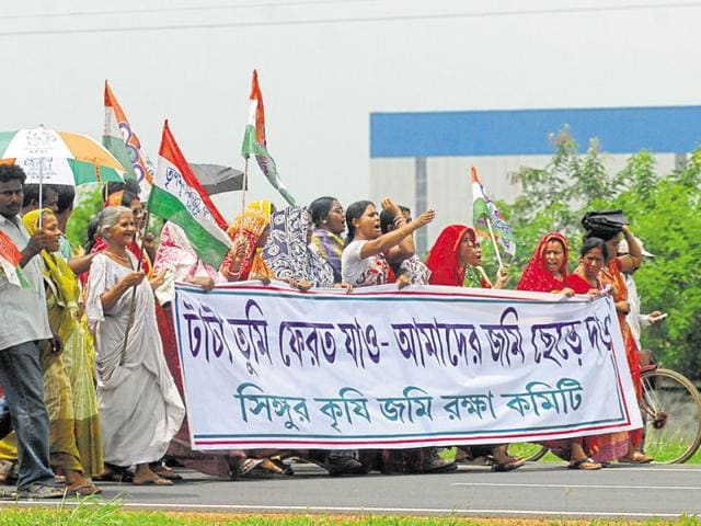 Tata Motors' Singur project was abandoned after Mamata Banerjee's movement against land acquisition.