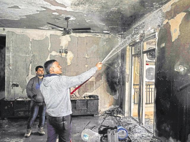 Most of the furniture and other household items in the ninth-floor apartment of the 16-storey building were gutted. Residents said sprinklers, fire detectors and alarms of the condominium were not functional when the incident took place.