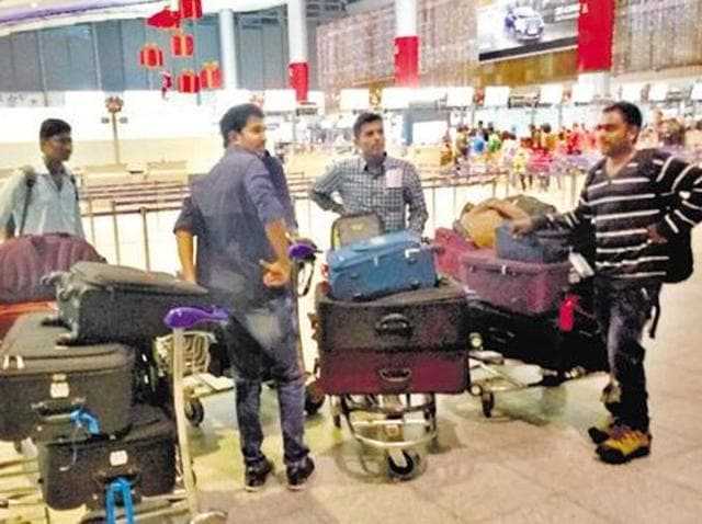 A group of Telugu students who were stopped at Rajiv Gandhi International Airport in Hyderabad from boarding a US bound flight on December 22.